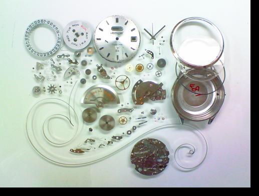 66.シチズンクリスタルセブン5201J自動巻腕時計分解掃除(オーバーホール)