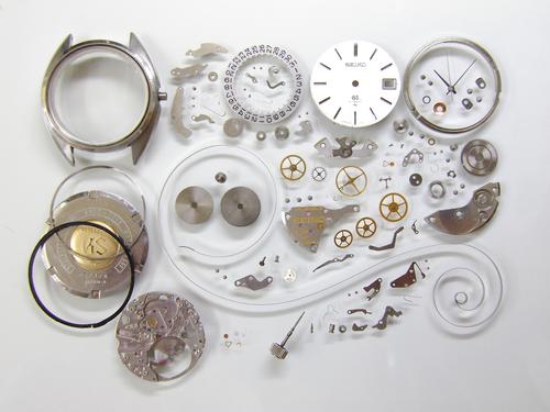 機械式腕時計修理---グランドセイコー4522A手巻腕時計 分解掃除(オーバーホール)【times-machine.com】《 時計修理 》【三田時計メガネ店@栃木県大田原市前田】