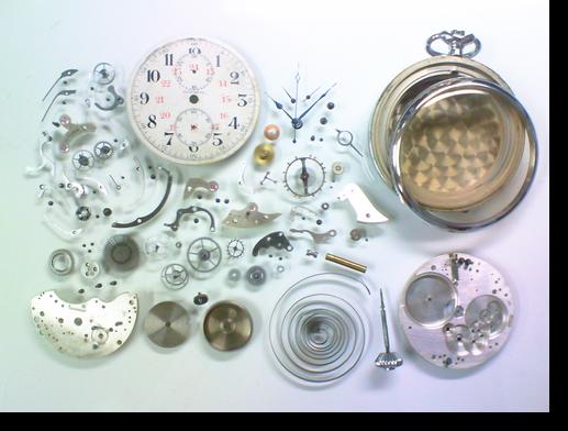 21.セイコーカラフ(19セイコークロノグラフ付き)手巻提げ時計分解掃除(オーバーホール)