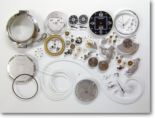 official photos 3ab36 e02e4 カルティエパシャCartier052自動巻腕時計分解修理 – 【三田時計 ...