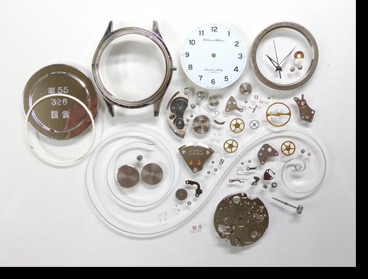 49.シチズンホーマー1160K手巻腕時計分解掃除(オーバーホール)