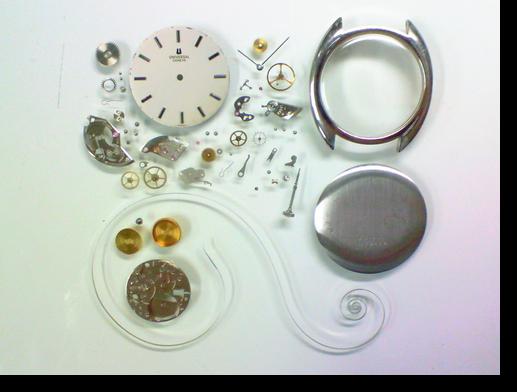 20.ユニバーサル手巻腕時計分解掃除(オーバーホール)
