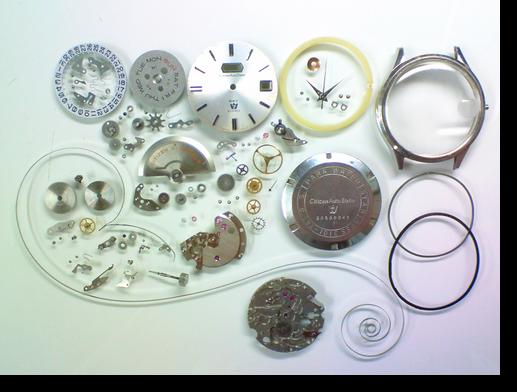 76.シチズンオートデーターセブン5203F自動巻腕時計分解掃除(オーバーホール)