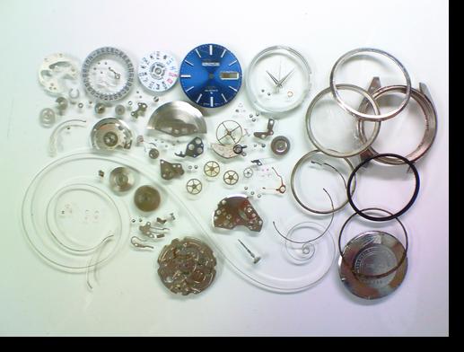 77.セイコー5アクタスSS6106C自動巻腕時計分解掃除(オーバーホール)