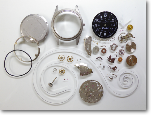 51.ハミルトンカーキETA2801-2手巻腕時計分解掃除(オーバーホール)