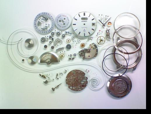 75.シチズンクリスタルセブン5201U自動巻腕時計分解掃除(オーバーホール)
