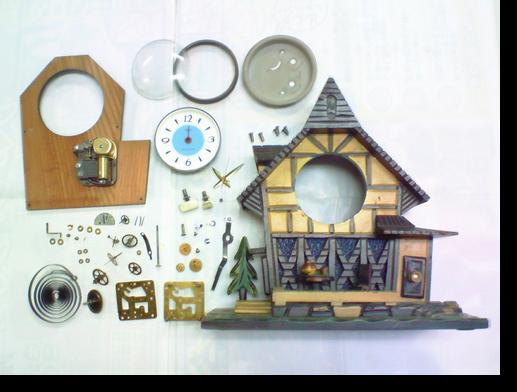 1.東京時計オルゴール付き手巻置時計分解掃除(オーバーホール)