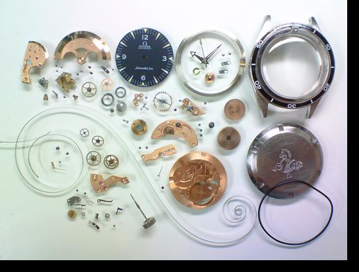 79.オメガシーマスターΩ505自動巻腕時計分解掃除(オーバーホール)