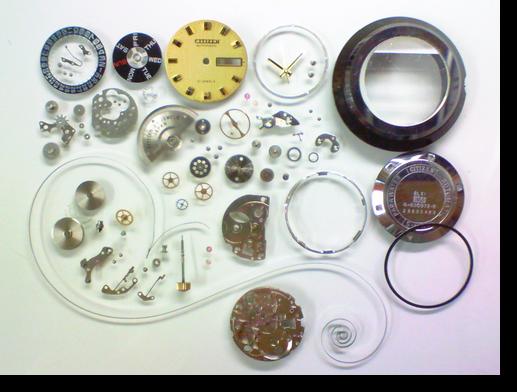 81.シチズン6501Z自動巻腕時計分解掃除(オーバーホール)