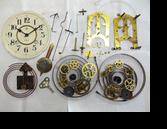 サトウ8日巻カギ巻柱時計分解掃除(オーバーホール)