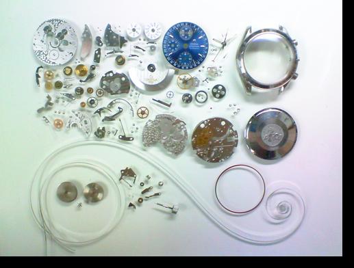 80.オメガスピードマスタートリプルカレンダーΩ1151自動巻腕時計分解掃除(オーバーホール)