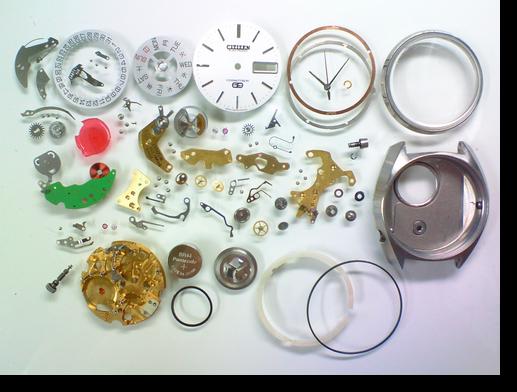 16.シチズンコスモトロンスペシャル7801A電子腕時計分解掃除(オーバーホール)