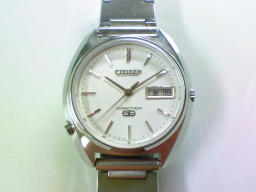 機械式腕時計修理---シチズン7801A電子腕時計コスモトロンスペシャル【times-machine.com】《 時計修理 》【三田時計メガネ店@栃木県大田原市前田】