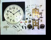 アイチ30日巻カギ巻柱時計 分解掃除(オーバーホール)