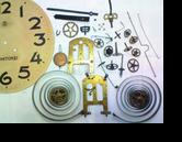 アイチ8日巻カギ巻柱時計 分解掃除(オーバーホール)---もうちょっと詳しく・・・拡大版【時計修理】機械式柱時計修理10 バネ折れ別作 修復再生修理へ