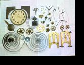 アイコー8日巻カギ巻柱時計 分解掃除(オーバーホール)---もうちょっと詳しく・・・拡大版【時計修理】機械式柱時計修理6 部品の修復再生修理へ