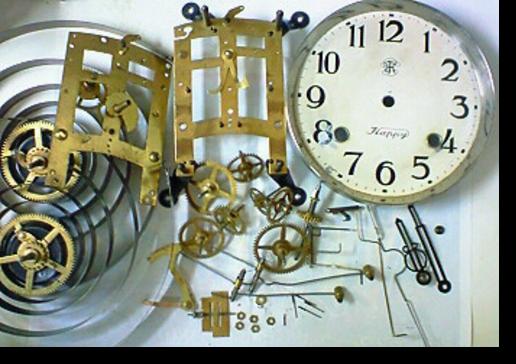 1.エイケイシャ8日巻カギ巻柱時計 分解掃除(オーバーホール)