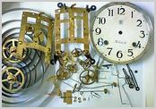 機械式柱時計修理---カギ巻柱時計 分解掃除(オーバーホール)【times-machine.com】《 時計修理 》【三田時計メガネ店@栃木県大田原市前田】