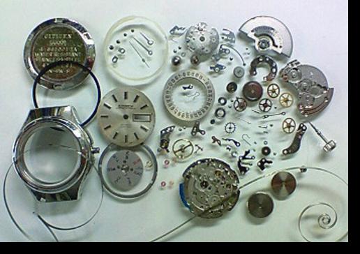 4.シチズンクリスタルセブン5204自動巻腕時計 分解掃除(オーバーホール)