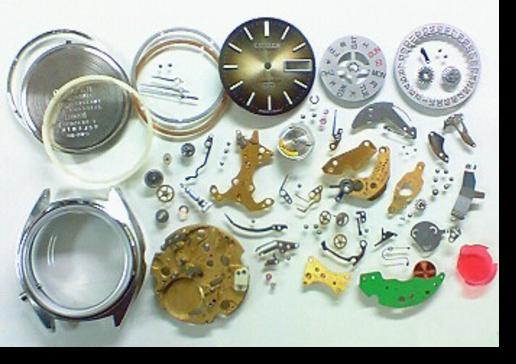 2.シチズンコスモトロン7803A電子腕時計 分解掃除(オーバーホール)