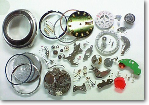 4.シチズンコスモトロン7802A電子腕時計 分解掃除(オーバーホール)
