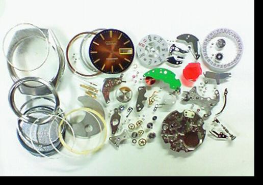 5.シチズンコスモトロン7804A電子腕時計 分解掃除(オーバーホール)
