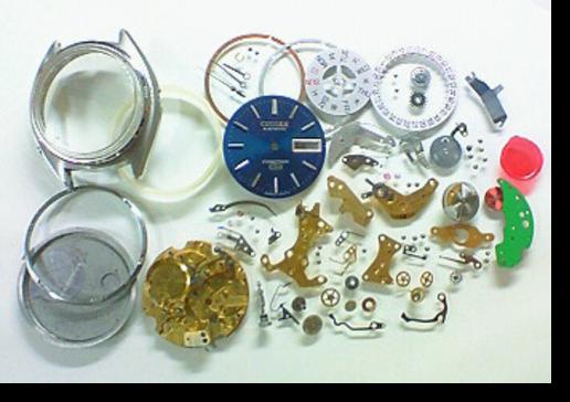 3.シチズンコスモトロン7801A電子腕時計 分解掃除(オーバーホール)
