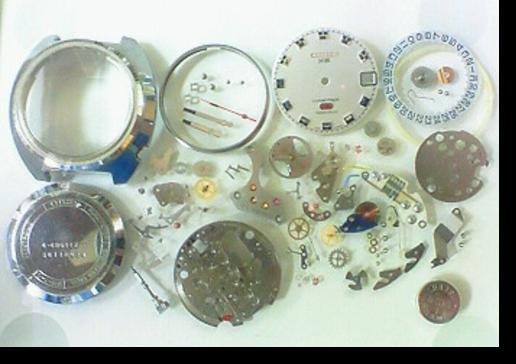 7.シチズンコスモトロンX84840電子腕時計 分解掃除(オーバーホール)