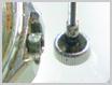 クォーツ式腕時計修理---リューズ、ケースのパイプに汚れ【times-machine.com】《 時計修理 》【三田時計メガネ店@栃木県大田原市前田】
