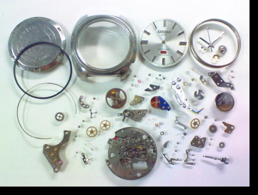 11.シチズンコスモトロンX80840電子腕時計 分解掃除(オーバーホール)