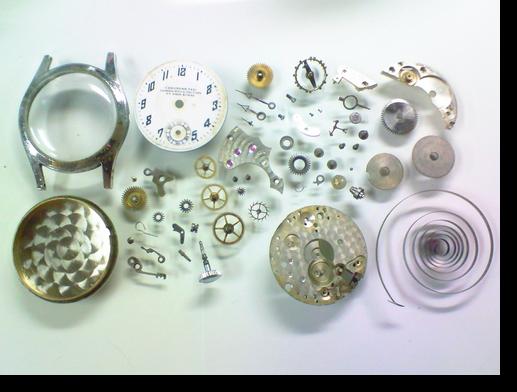 7.LEONIDAS手巻腕時計 分解掃除(オーバーホール)