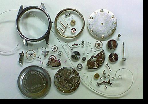 5.シチズンUN手巻腕時計 分解掃除(オーバーホール)