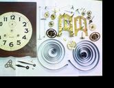 PAON8日巻カギ巻柱時計 分解掃除(オーバーホール)---もうちょっと詳しく・・・拡大版【時計修理】機械式柱時計修理9 振りベラ折れ 部品交換修理へ