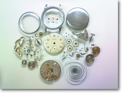 10.PRECISIONWESTER手巻腕時計 分解掃除(オーバーホール)