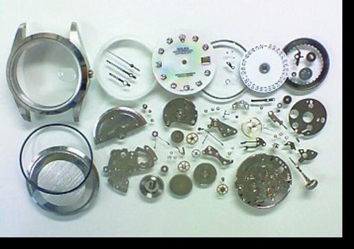 7.セカンドメイク・ロレックス自動巻腕時計 分解掃除(オーバーホール)