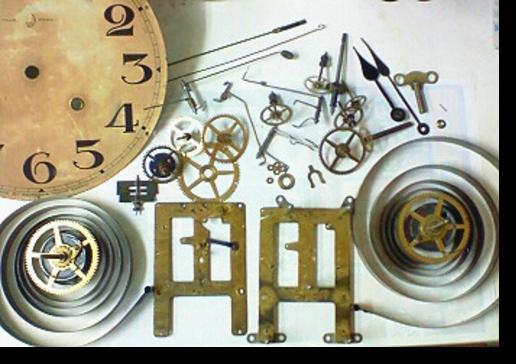 5.セイコー8日巻カギ巻柱時計 分解掃除(オーバーホール)