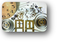 【時計修理】機械式柱時計修理3---セイコー8日巻カギ巻柱時計修理 ケース・外観 修復再生修理【times-machine.com】《 時計修理 》【三田時計メガネ店@栃木県大田原市前田】