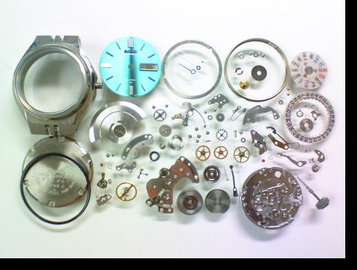 6.セイコージョイフル2406A自動巻腕時計 分解掃除(オーバーホール)
