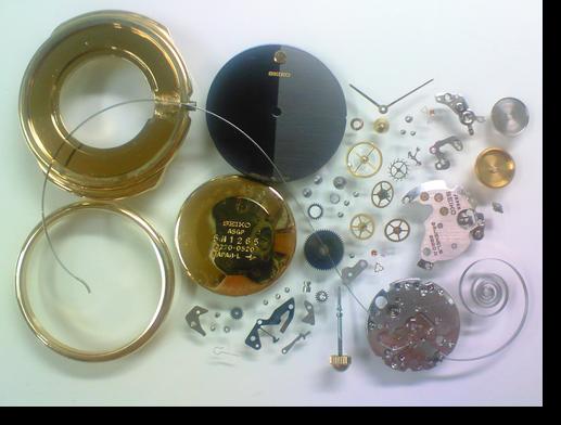 8.セイコーシャリオ2220A手巻腕時計 分解掃除(オーバーホール)