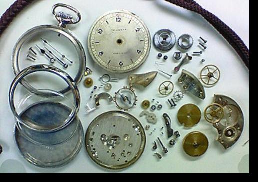 1.セイコー8手巻提時計(19セイコー鉄道時計) 分解掃除(オーバーホール)