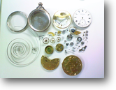 S.SMITH&SON手巻提時計 分解掃除(オーバーホール)---もうちょっと詳しく・・・拡大版【時計修理】機械式腕時計修理5 全舞切れ 全舞部品修復修理へ