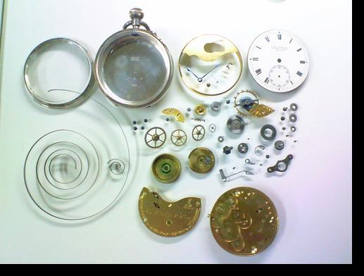 13.S.SMITH&SON手巻提時計 分解掃除(オーバーホール)