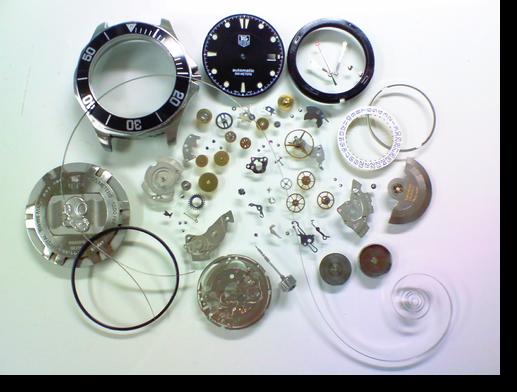 23.タグホイヤーETA2824.2自動巻腕時計 分解掃除(オーバーホール)