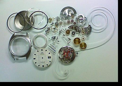 8.ティアラETAEV2452自動巻腕時計 分解掃除(オーバーホール)