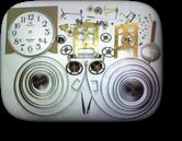 エイケイシャ30日巻カギ巻柱時計 分解掃除(オーバーホール)---もうちょっと詳しく・・・拡大版【OVERHAUL】《 時計分解 》【times-machine.com】時計修理の分解工程・組立工程へ
