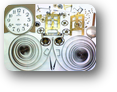 【時計修理】機械式柱時計修理2---エイケイシャ30日巻カギ巻柱時計修理 ケース・外観 修復再生修理【times-machine.com】《 時計修理 》【三田時計メガネ店@栃木県大田原市前田】