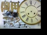 韓国製30日巻カギ巻柱時計 分解掃除(オーバーホール)