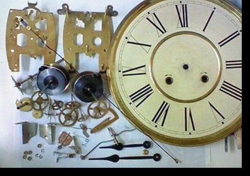 3.韓国製30日巻カギ巻柱時計 分解掃除(オーバーホール)