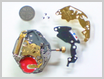 クォーツ式腕時計修理---シチズンフォルマ4634Mクォーツ腕時計 回路ブロックをはずした状態【times-machine.com】《 時計修理 》【三田時計メガネ店@栃木県大田原市前田】