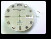 オリエントウィークリーオートE9自動巻腕時計 支足折れ(文字盤の足折れ)